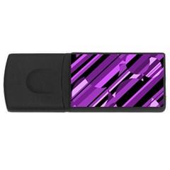 Purple Pattern Usb Flash Drive Rectangular (4 Gb)  by Valentinaart