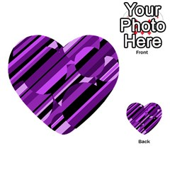 Purple Pattern Multi Purpose Cards (heart)  by Valentinaart