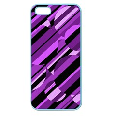 Purple Pattern Apple Seamless Iphone 5 Case (color) by Valentinaart