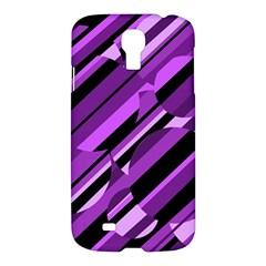 Purple Pattern Samsung Galaxy S4 I9500/i9505 Hardshell Case by Valentinaart