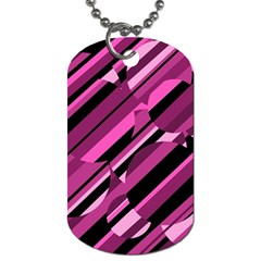 Magenta Pattern Dog Tag (two Sides) by Valentinaart