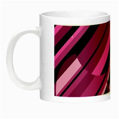 Magenta Pattern Night Luminous Mugs by Valentinaart