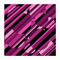 Magenta Pattern Medium Glasses Cloth (2 Side) by Valentinaart