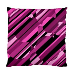 Magenta Pattern Standard Cushion Case (two Sides) by Valentinaart