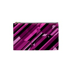 Magenta Pattern Cosmetic Bag (small)  by Valentinaart