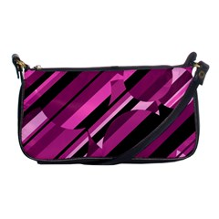 Magenta Pattern Shoulder Clutch Bags by Valentinaart