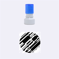 Magenta Pattern Rubber Round Stamps (small)