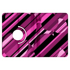 Magenta Pattern Kindle Fire Hdx Flip 360 Case by Valentinaart