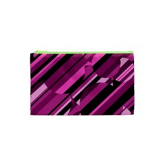 Magenta Pattern Cosmetic Bag (xs) by Valentinaart