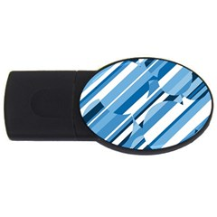 Blue pattern USB Flash Drive Oval (1 GB)  by Valentinaart