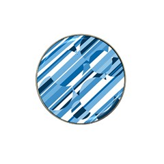Blue Pattern Hat Clip Ball Marker by Valentinaart