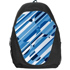 Blue Pattern Backpack Bag by Valentinaart