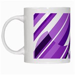 Purple pattern White Mugs Left