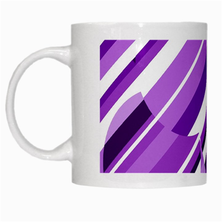 Purple pattern White Mugs