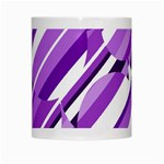 Purple pattern White Mugs Center