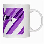 Purple pattern White Mugs Right