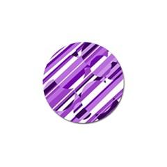 Purple Pattern Golf Ball Marker by Valentinaart