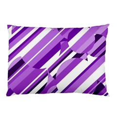 Purple Pattern Pillow Case (two Sides) by Valentinaart