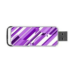 Purple Pattern Portable Usb Flash (two Sides) by Valentinaart