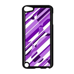 Purple Pattern Apple Ipod Touch 5 Case (black) by Valentinaart