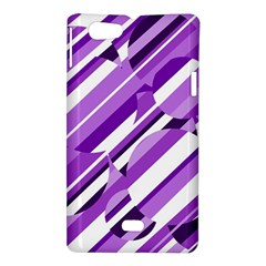 Purple pattern Sony Xperia Miro by Valentinaart