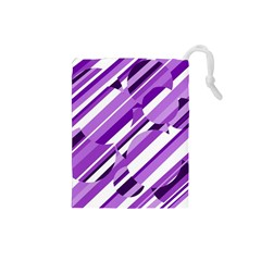 Purple pattern Drawstring Pouches (Small)