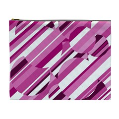 Magenta Pattern Cosmetic Bag (xl) by Valentinaart