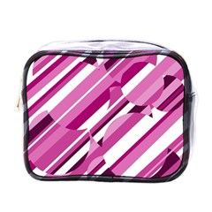 Magenta Pattern Mini Toiletries Bags by Valentinaart