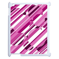 Magenta Pattern Apple Ipad 2 Case (white) by Valentinaart