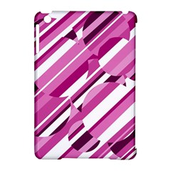 Magenta pattern Apple iPad Mini Hardshell Case (Compatible with Smart Cover) by Valentinaart
