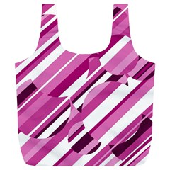 Magenta Pattern Full Print Recycle Bags (l)  by Valentinaart