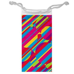 Colorful Summer Pattern Jewelry Bags by Valentinaart