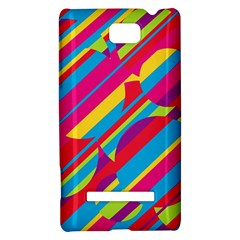 Colorful summer pattern HTC 8S Hardshell Case
