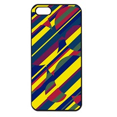Colorful Pattern Apple Iphone 5 Seamless Case (black) by Valentinaart
