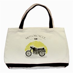 Vintage Watercolor Motorcycle Basic Tote Bag