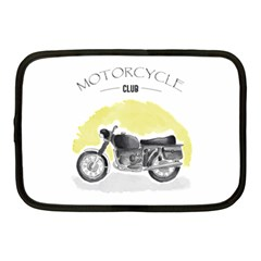 Vintage Watercolor Motorcycle Netbook Case (medium)