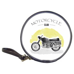 Vintage Watercolor Motorcycle Classic 20 Cd Wallets