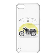 Vintage Watercolor Motorcycle Apple Ipod Touch 5 Hardshell Case With Stand