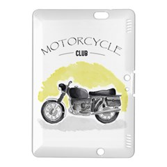Vintage Watercolor Motorcycle Kindle Fire Hdx 8 9  Hardshell Case by TastefulDesigns