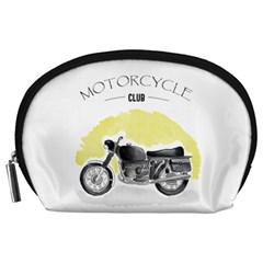 Vintage Watercolor Motorcycle Accessory Pouches (large)