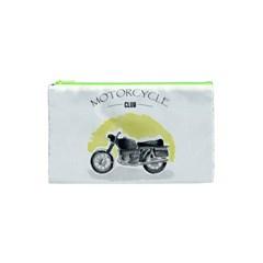 Vintage Watercolor Motorcycle Cosmetic Bag (xs) by TastefulDesigns