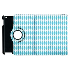 Blue Watercolour Leaf Pattern Apple Ipad 3/4 Flip 360 Case by TanyaDraws