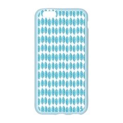 Blue Watercolour Leaf Pattern Apple Seamless iPhone 6/6S Case (Color) by TanyaDraws