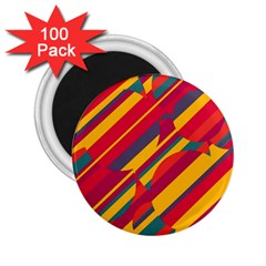 Colorful hot pattern 2.25  Magnets (100 pack)  by Valentinaart