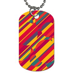 Colorful Hot Pattern Dog Tag (one Side) by Valentinaart