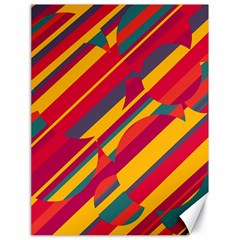 Colorful Hot Pattern Canvas 18  X 24   by Valentinaart