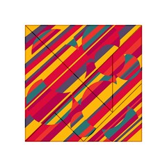 Colorful Hot Pattern Acrylic Tangram Puzzle (4  X 4 ) by Valentinaart