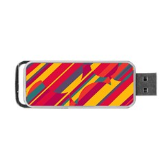 Colorful Hot Pattern Portable Usb Flash (two Sides) by Valentinaart