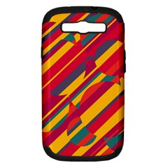 Colorful Hot Pattern Samsung Galaxy S Iii Hardshell Case (pc+silicone) by Valentinaart