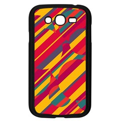 Colorful Hot Pattern Samsung Galaxy Grand Duos I9082 Case (black) by Valentinaart